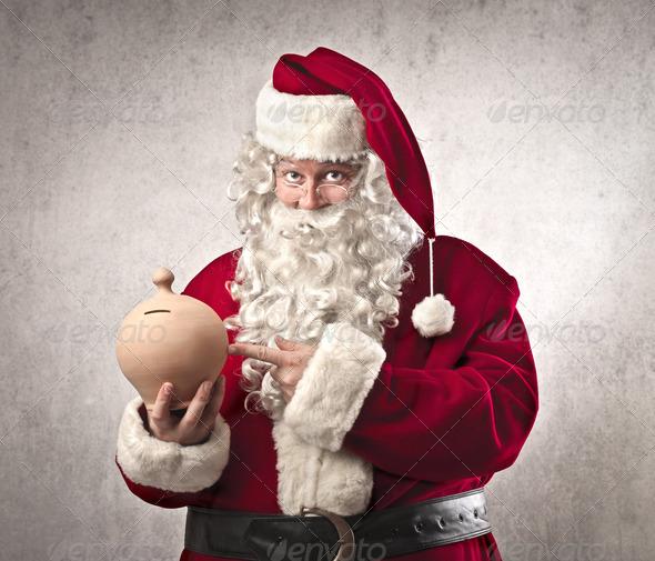 Santa Claus Savings - Stock Photo - Images