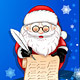 Santa-Claus writing on scroll card - GraphicRiver Item for Sale