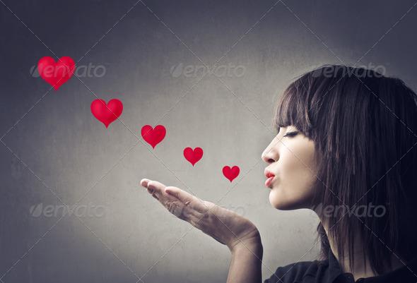 Sending Kisses - Stock Photo - Images