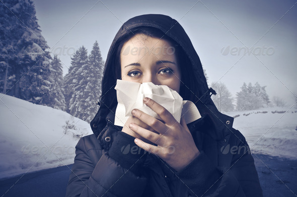 Winter Flu - Stock Photo - Images