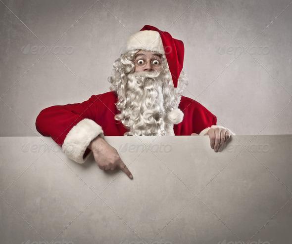 Santa Claus Ad - Stock Photo - Images