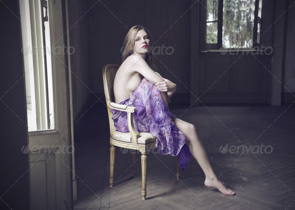Purple Girl - Stock Photo - Images