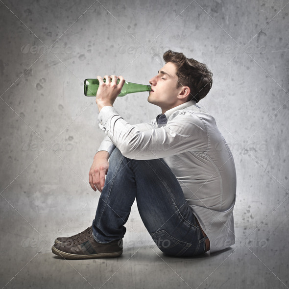 Drinking Beer - Stock Photo - Images