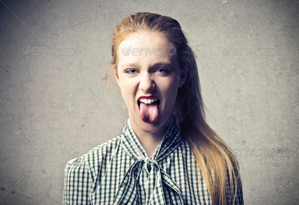 Blonde Bigmouth - Stock Photo - Images