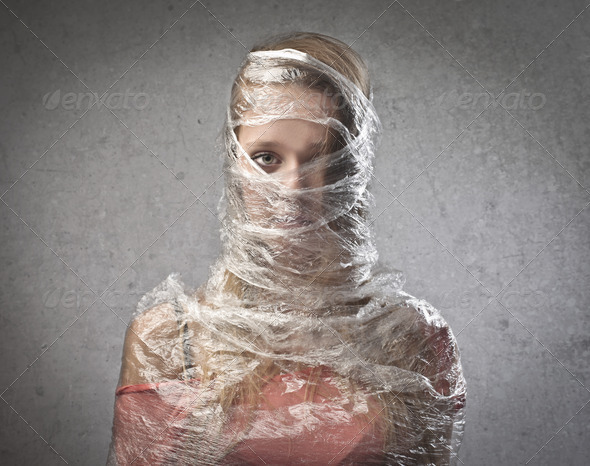 Trapped in the Plastic - Stock Photo - Images