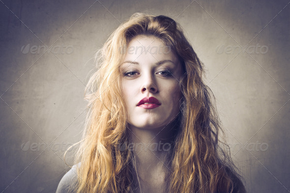 Blonde Power - Stock Photo - Images