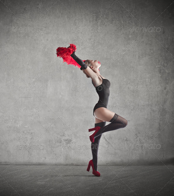 Dancing Pin Up - Stock Photo - Images