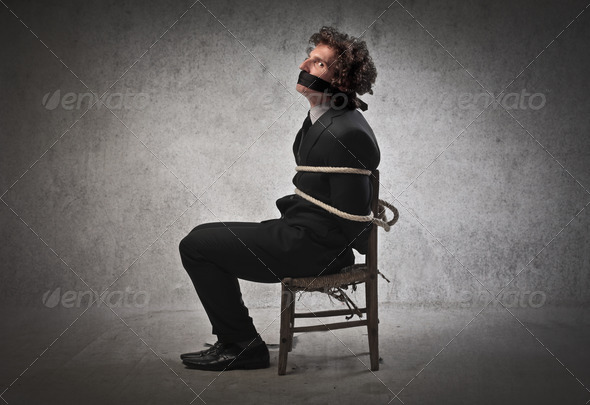 Businessman Hostage - Stock Photo - Images