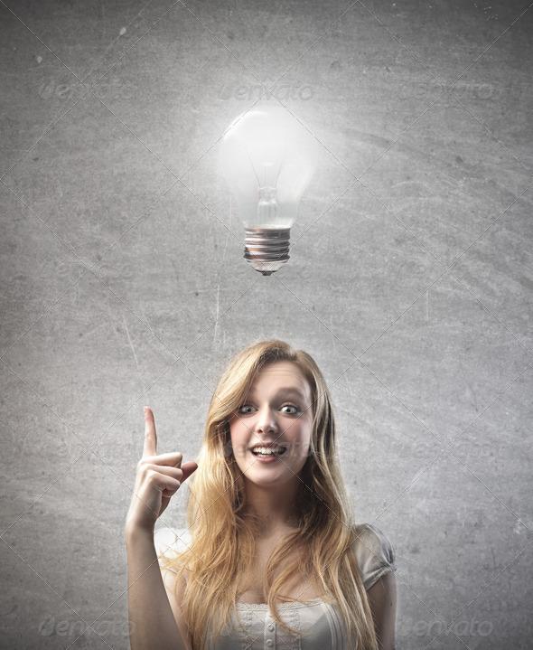 Blonde Idea - Stock Photo - Images