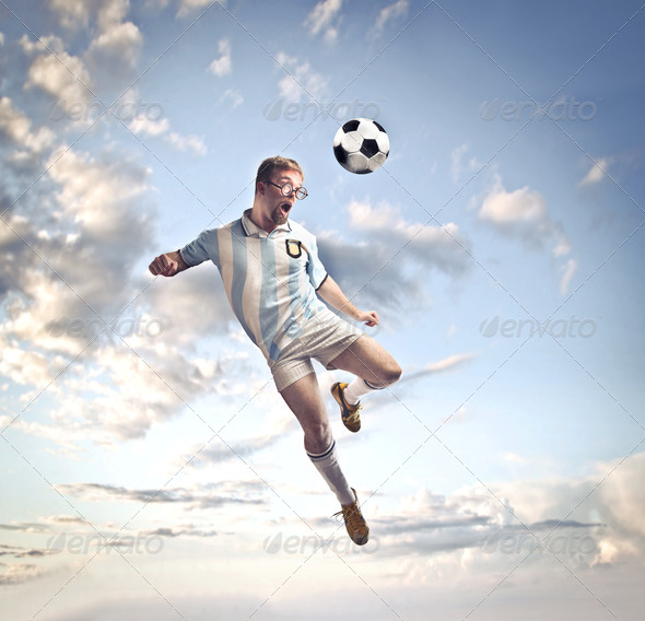 Football Stunt - Stock Photo - Images