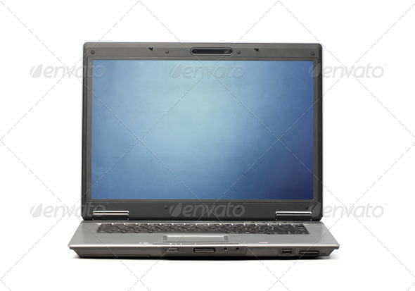 Simple Laptop Computer - Stock Photo - Images