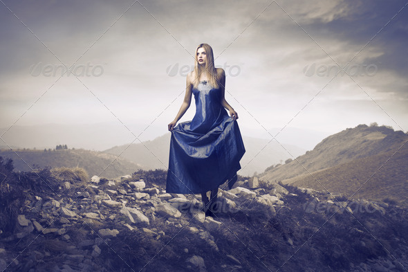 Elegance on the Hill - Stock Photo - Images