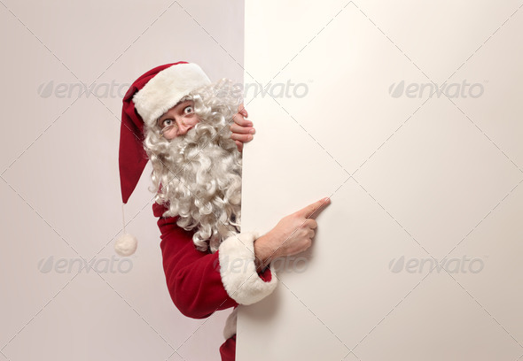 Santa Claus Advertising - Stock Photo - Images