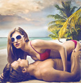 Couple on the Beach - PhotoDune Item for Sale