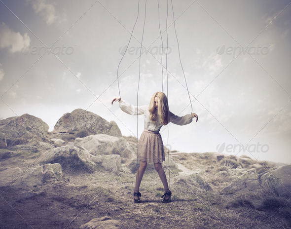 Puppet on a Hill - Stock Photo - Images