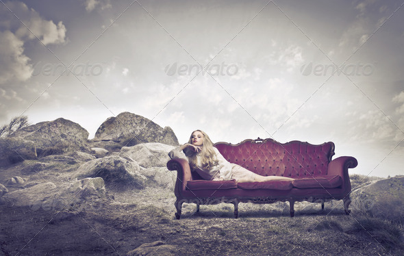 Sofa on a Hill - Stock Photo - Images