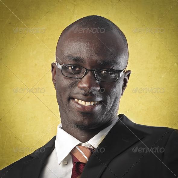 Black Man Smile - Stock Photo - Images