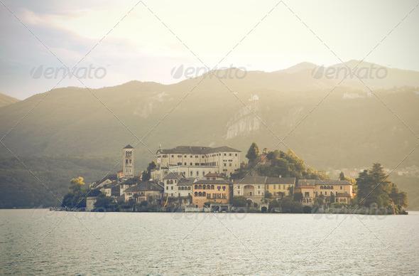 San Giulio Island - Stock Photo - Images