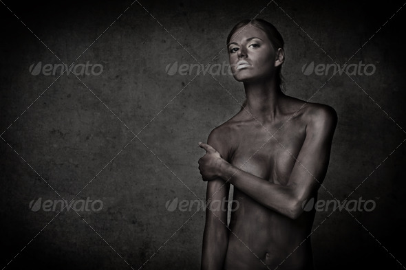 Painted Girl - Stock Photo - Images