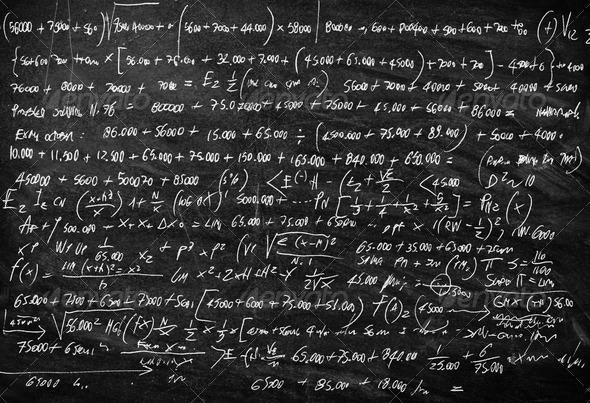 Scientific Blackboard - Stock Photo - Images