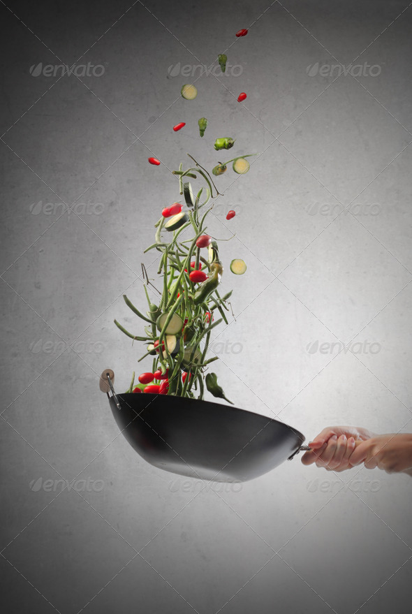 Cooking Vegetables - Stock Photo - Images