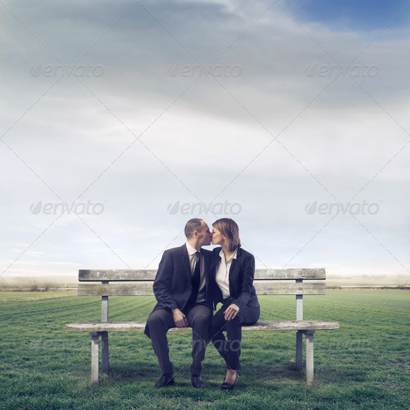 Adult Kiss - Stock Photo - Images