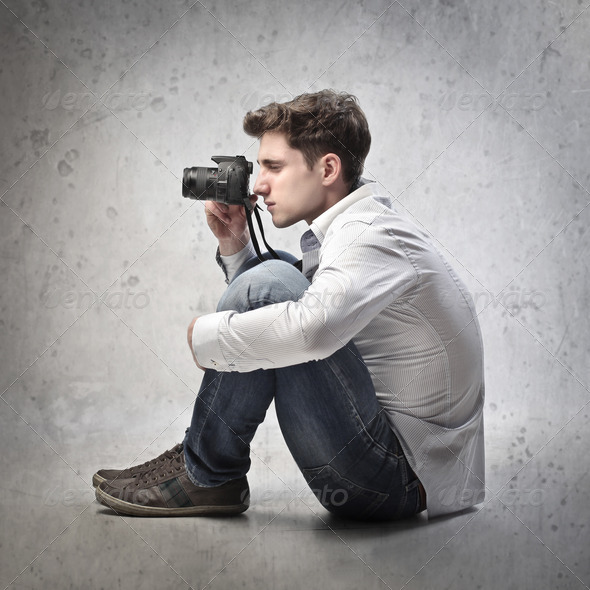 Taking a Picture - Stock Photo - Images