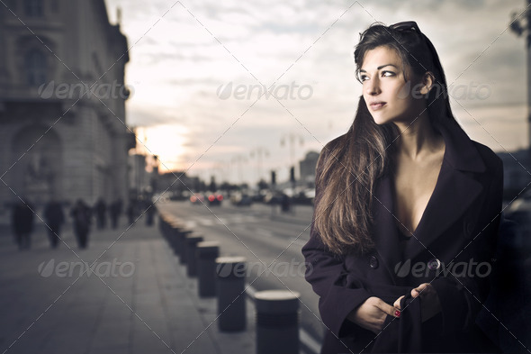 Woman Alone - Stock Photo - Images