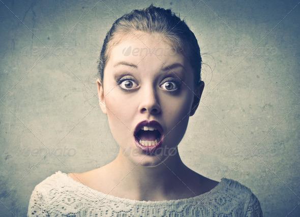 Astonished Girl - Stock Photo - Images