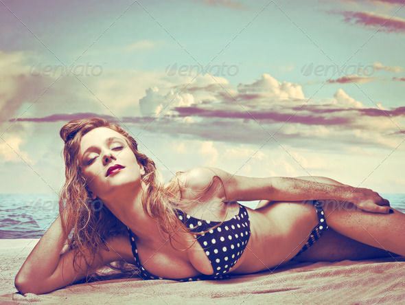Beauty on the Beach - Stock Photo - Images