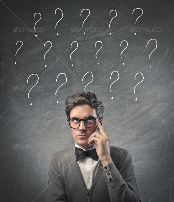 Fashionable Man Doubts - Stock Photo - Images