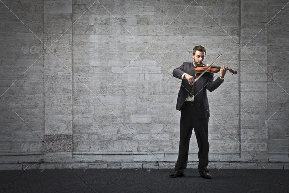 Playing the Violin - Stock Photo - Images