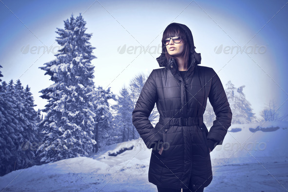 Winter Woman - Stock Photo - Images