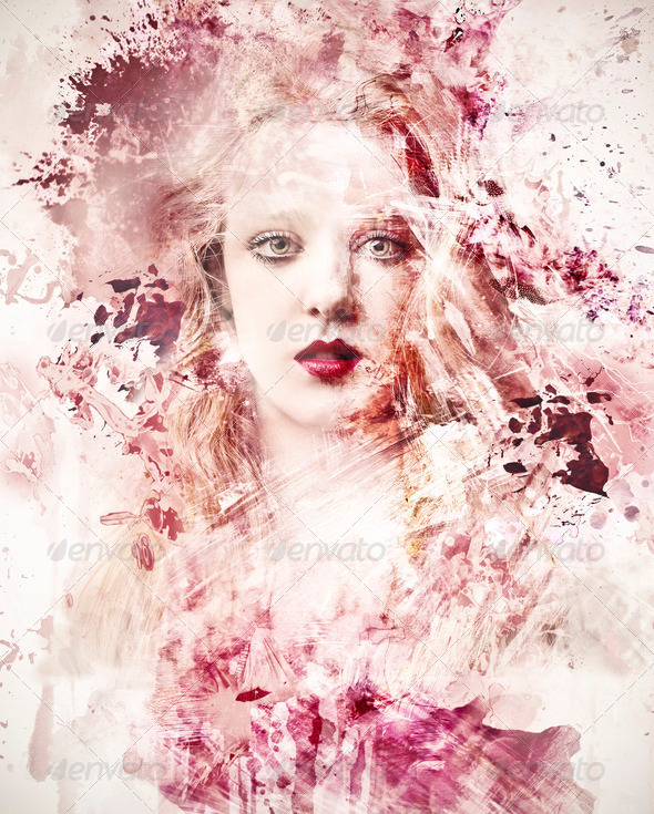 Pink Portrait - Stock Photo - Images