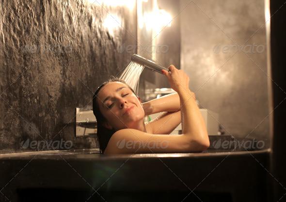 Woman Bath - Stock Photo - Images