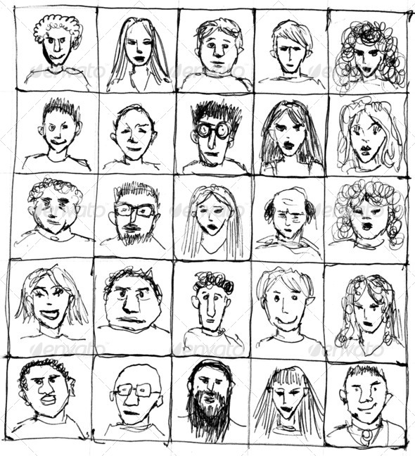 Drawn People - Stock Photo - Images