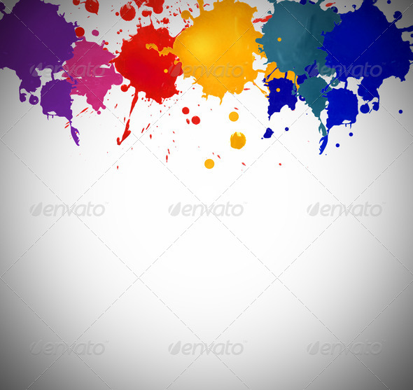 Colored Stains - Stock Photo - Images