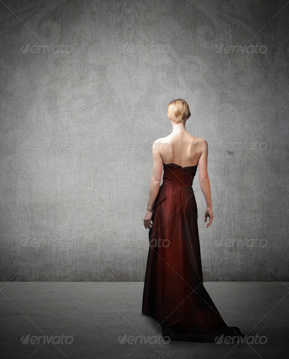 Elegance from the Back - Stock Photo - Images