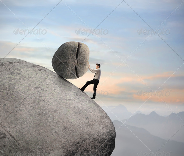 Carrying a Burden - Stock Photo - Images