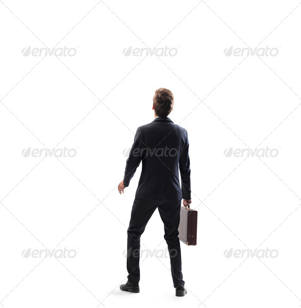 Young Businessman Scared  - Stock Photo - Images