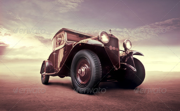Vintage on the Road - Stock Photo - Images