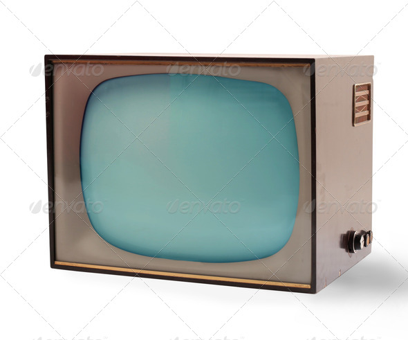 Old Television - Stock Photo - Images