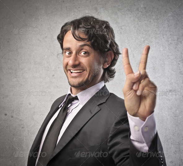 Businessman Victory - Stock Photo - Images