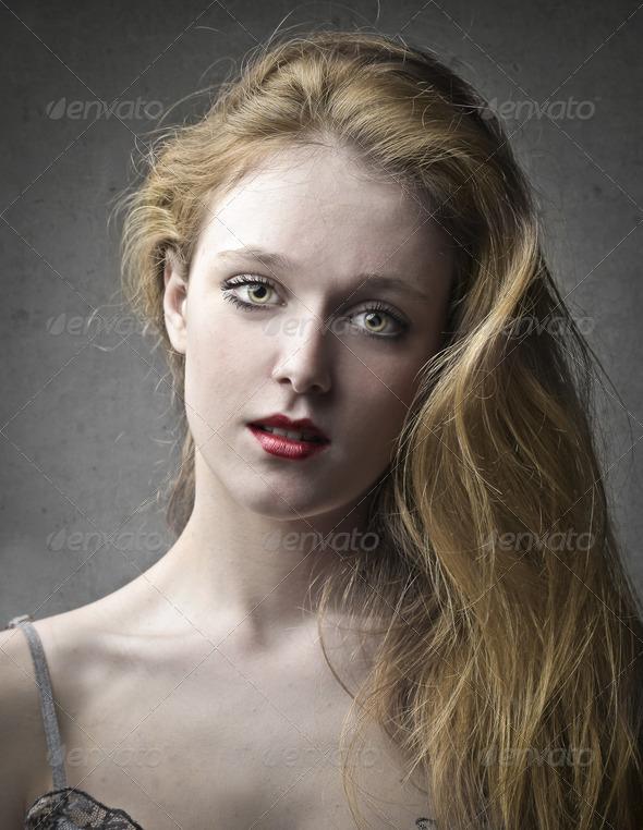 Beautiful Blonde - Stock Photo - Images