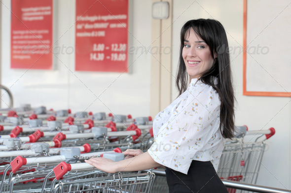 At the Supermarket - Stock Photo - Images