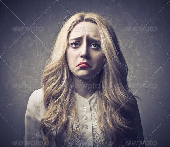 Blonde Sadness - Stock Photo - Images