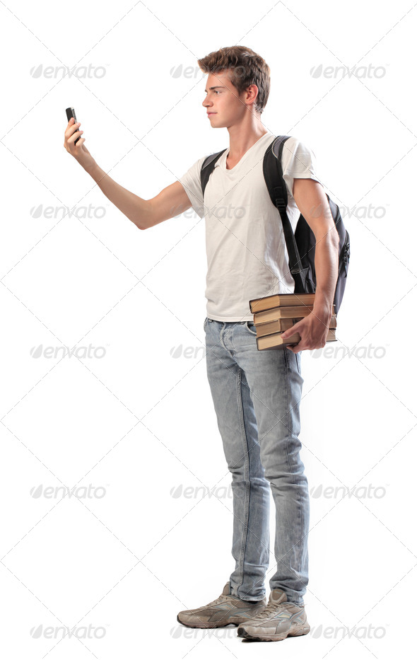 Boy Video Call - Stock Photo - Images