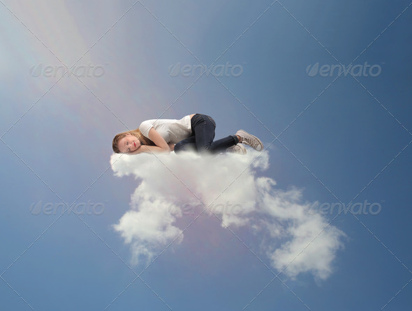 Sleeping on a Cloud - Stock Photo - Images