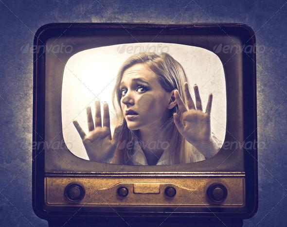 TV Prisoner - Stock Photo - Images