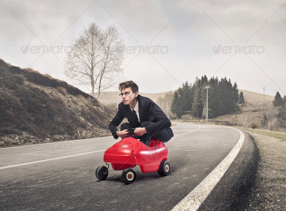 In a Toy Car - Stock Photo - Images